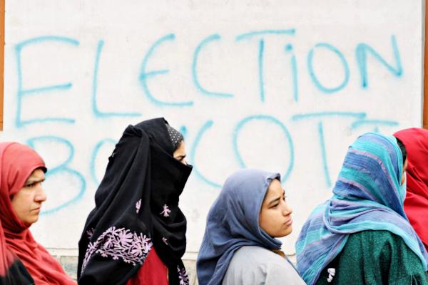 elections boycott kashmir