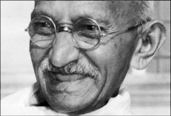 Gandhiji smiling