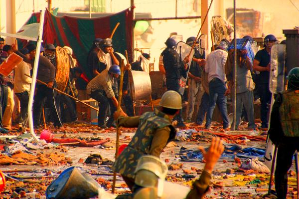 Military at rampal ashram