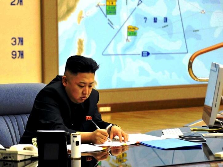 Kim Jong-un using an Imac