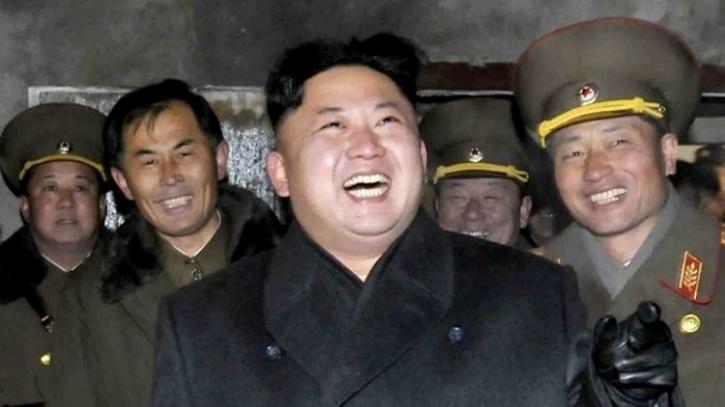 Kim Jong laughing