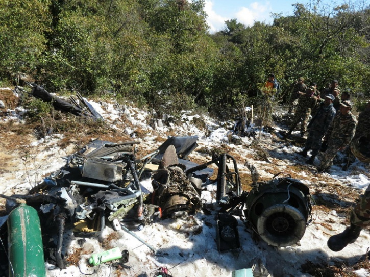 The accident site in Nepal.