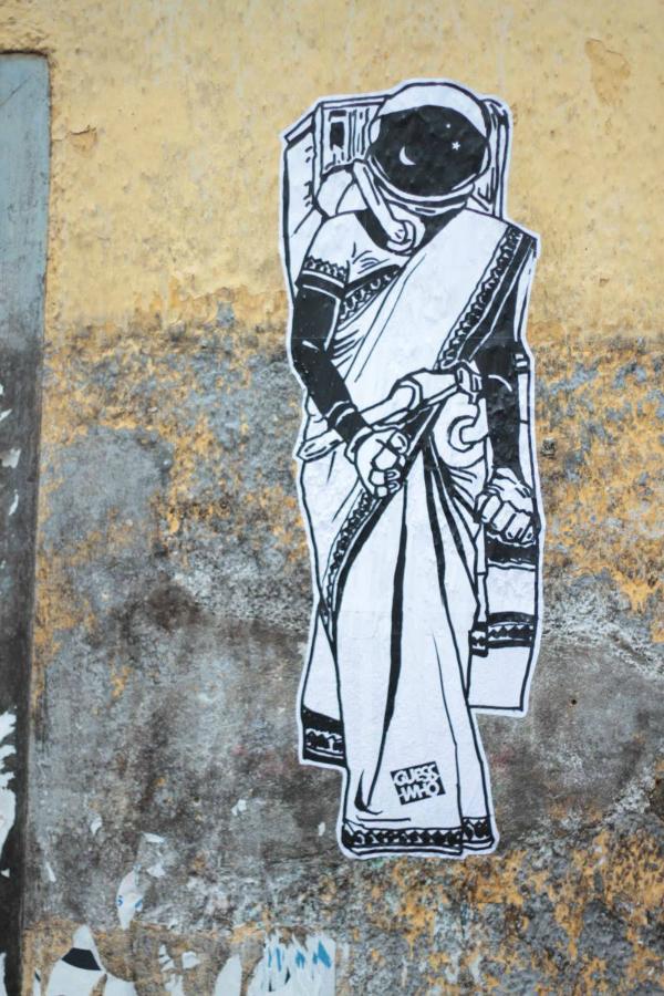 space woman sari