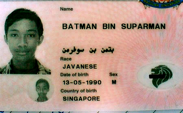funny id card