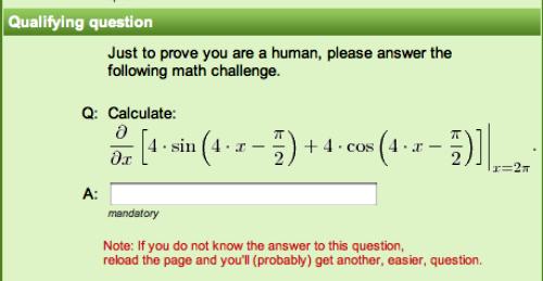 Math? Really?