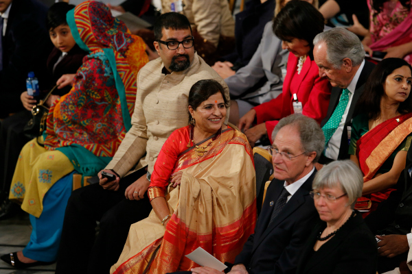kailash wife and son nobel