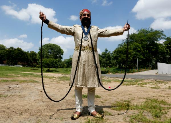 moustache longest india