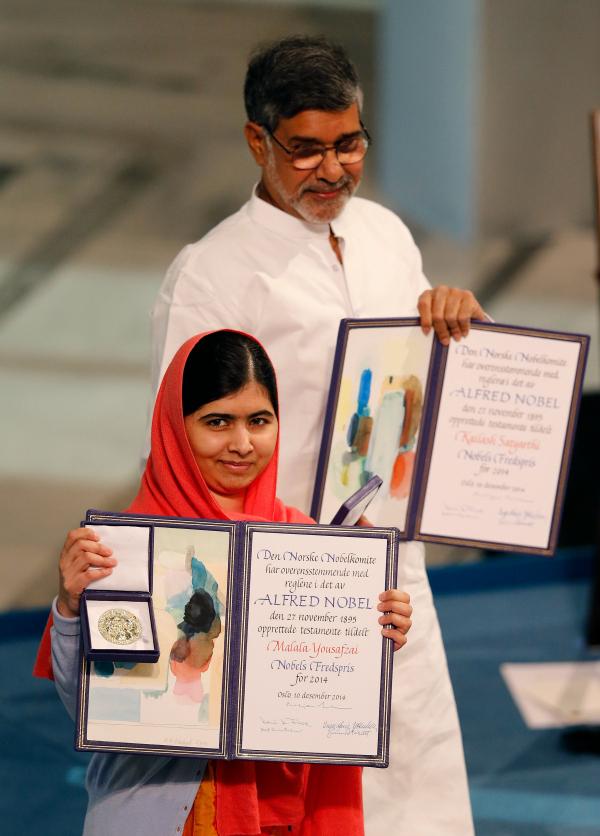 MALALA AND KAILASH diploma nobel
