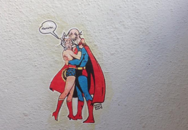 wonderwoman superman funny