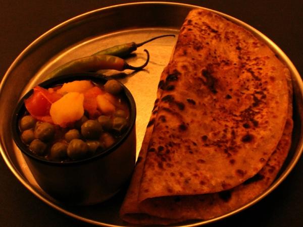 Indian Recipe: Potatoes, Tomatoes and Peas Sabzi