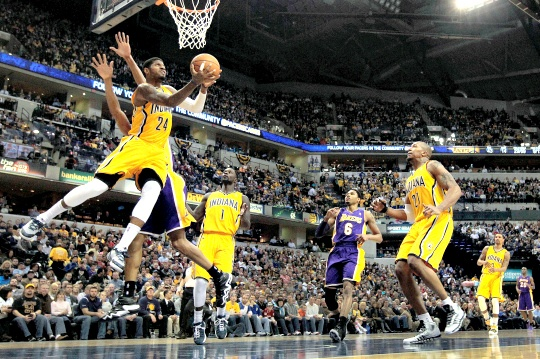 George Powers Pacers Over Lakers