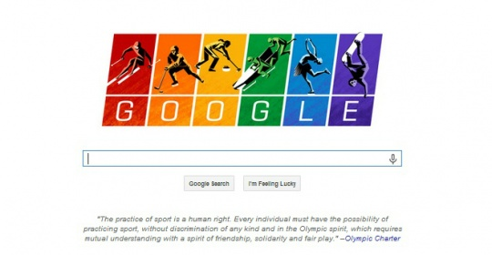 Google Doodle Flies Gay Flag for Sochi Olympics
