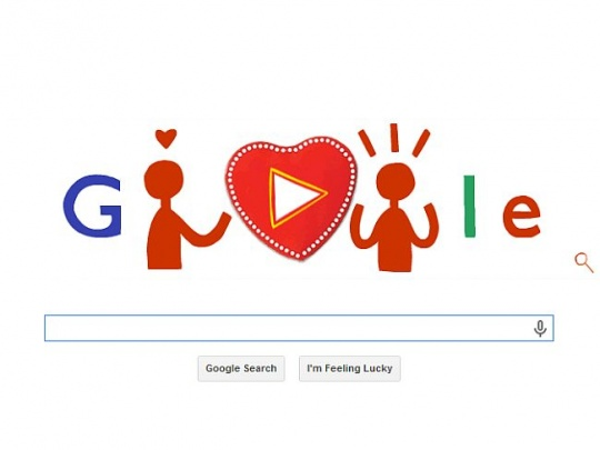 Google Doodle VDay 2014
