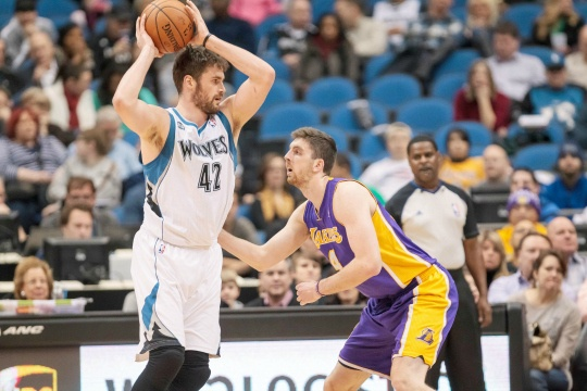 Love's 31 Lifts Timberwolves Over Lakers
