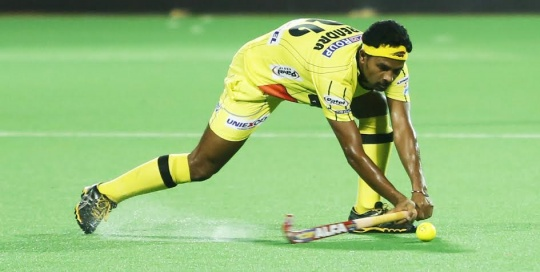 Birendra Lakra was declared man of the match for his outstanding defending.
