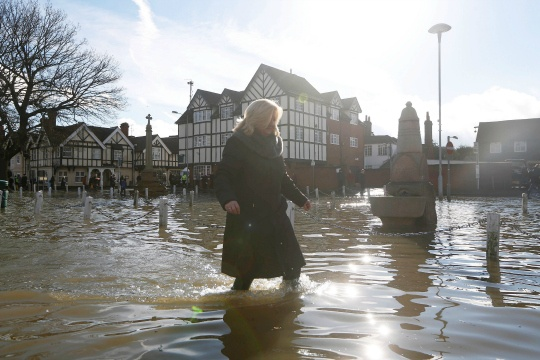 Britain's River Thames on Flood Alert