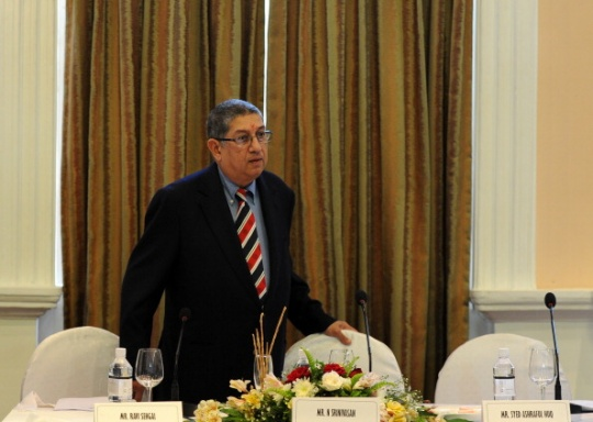 Srinivasan of BCCI, which contributes the lion's share of cricket's global revenues, will chair the ICC board from the middle of this year. (AFP)