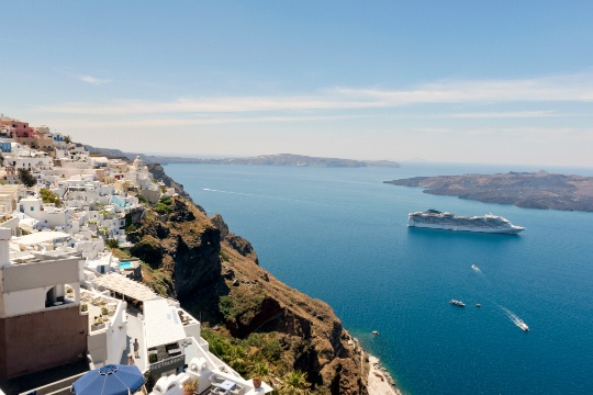 Santorini is Pure Magic in White and Blue