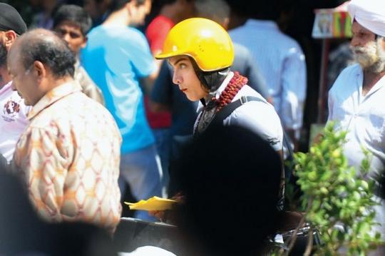 Aamir Khan shoots for PK