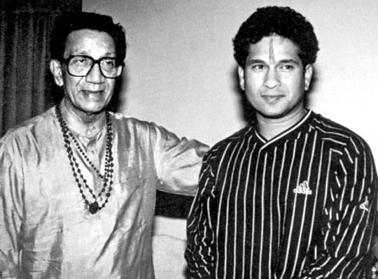 Bal Thackeray, Sachin Tendulkar