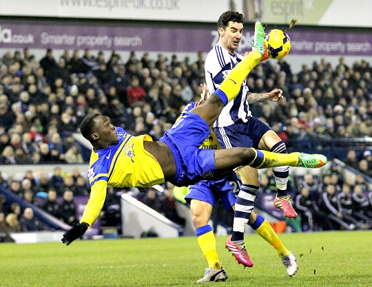 West Brom Draws 1-1 With Everton