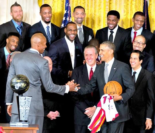 Obama Honours Miami Heat at White House