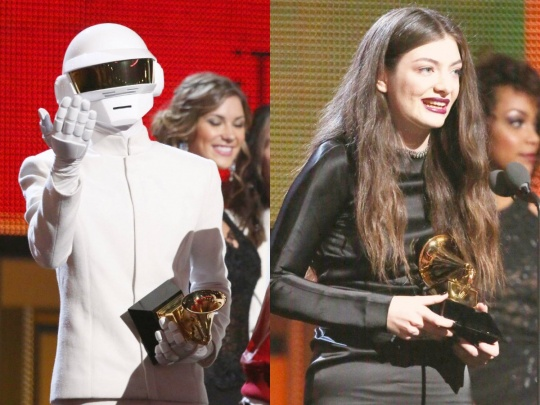 Daft Punk and Lorde at the Grammies
