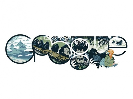 Google Doodle Dian Fossey
