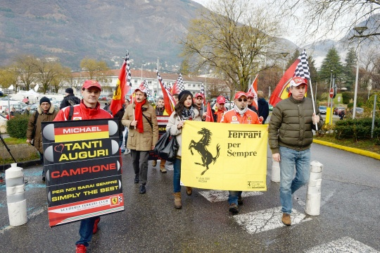 Fans Hold Silent Vigil As Schumi Turns 45