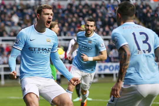 Man City Ride Newcastle Storm to Go Top