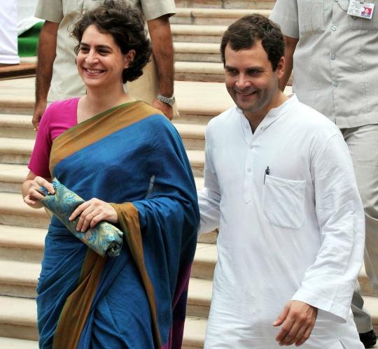 Priyanka Vadra, Rahul Gandhi
