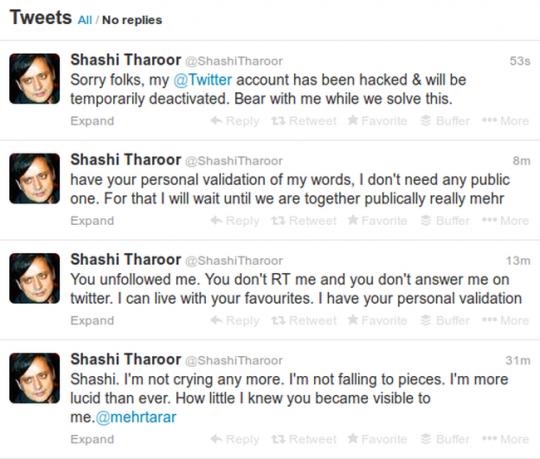 Shashi Tharoor Tweets
