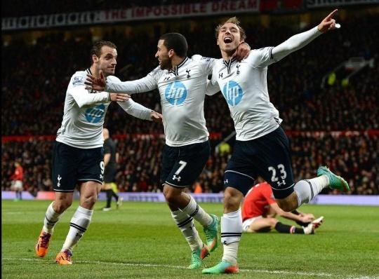 Tottenham Hotspur beat Manchester United at Old Trafford. (Reuters)