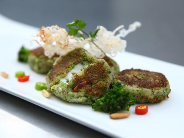 Healthy Snack Recipe: Broccoli, Pine Nut & Feta Cheese Tikkis