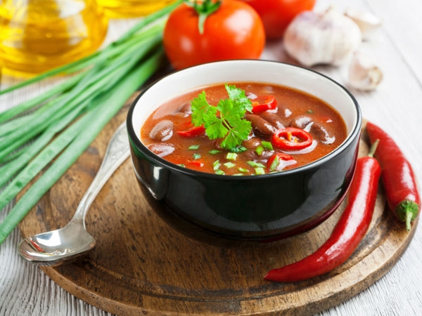 Healthy Monsoon Soup Recipe: Spicy Salsa Bean Soup