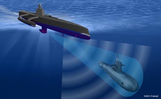Autonomous Unmanned Anti-Submarine Vessel