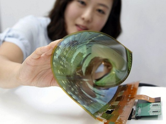 LG Unveils 18-Inch Flexible Display