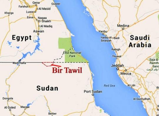 the area of Bir Tawil