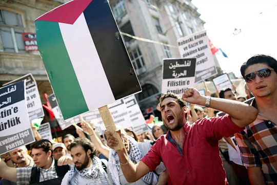 Turks Protest Against Israel in Istanbul
