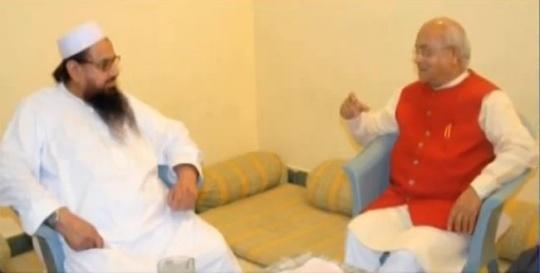 Ved Pratap Vaidik with the Mumbai attack mastermind Hafiz Saeed