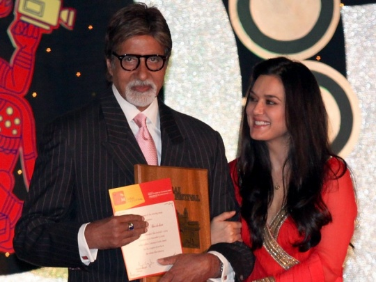 Amitabh Bachchan and Preity Zinta