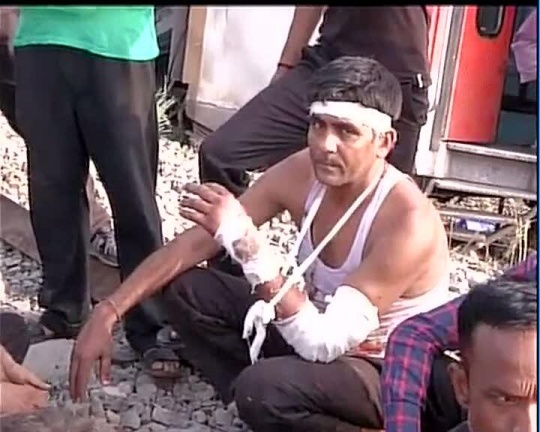 The Railway authorities have confirmed that four people have died in the Delhi-Dibrugarh Rajdhani Express derailment