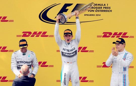 Lewis Hamilton, Nico Rosberg, Valtteri Bottas