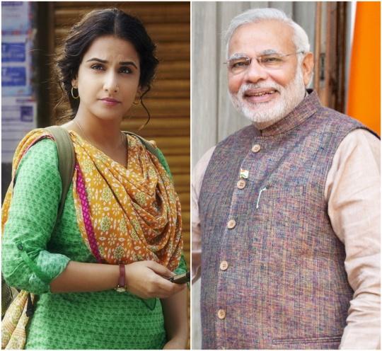 Vidya Balan and Narendra Modi