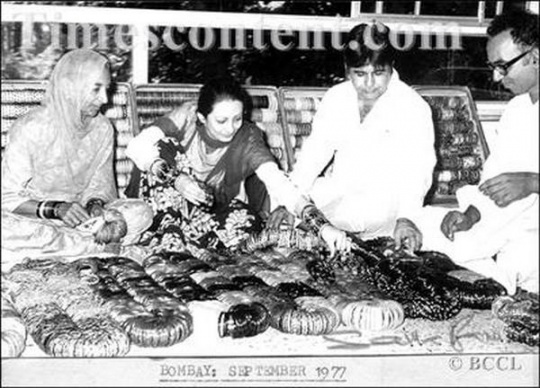 Dilip Kumar and Saira Banu 1977
