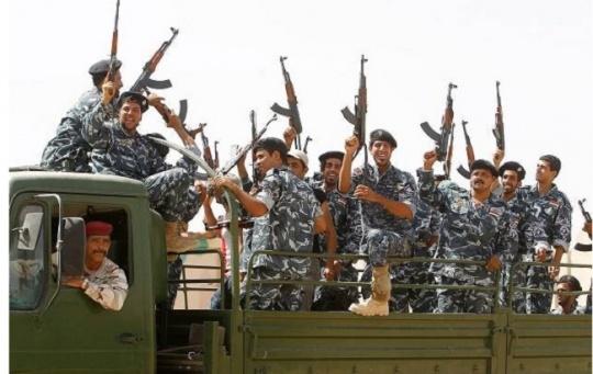 Shia Iraqi volunteers on their way to fight the ISIS jihadists