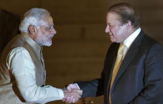 Modi with Nawaz Sharif