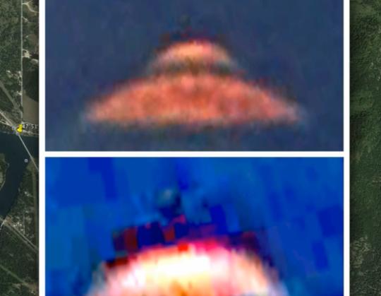 Google Earth captures 'UFO with alien'