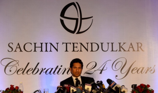 Tendulkar revealed that he planned on delivering a speech after his penultimate Test on a flight from Kolkata to Mumbai.