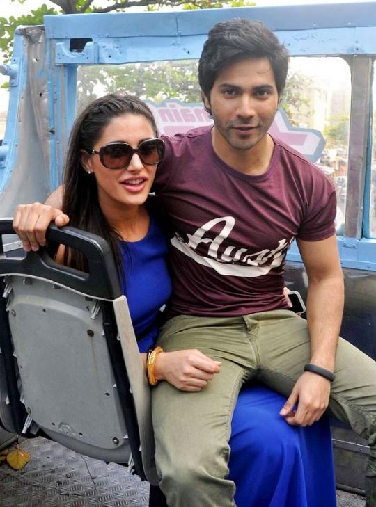 Varun Dhawan and Nargis Fakhri in Mumbai